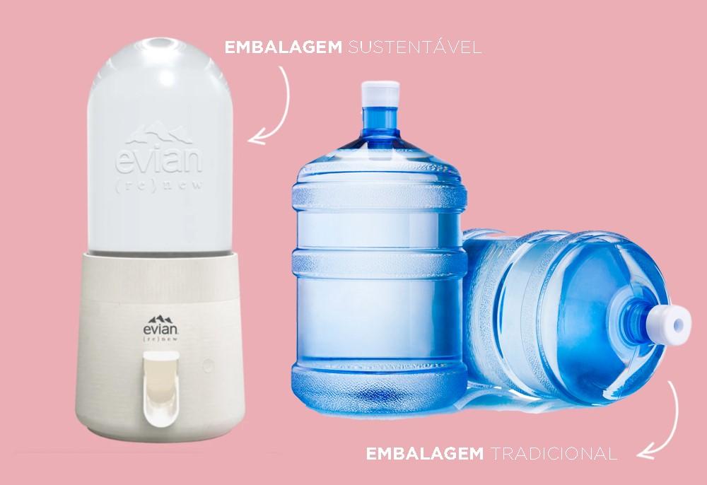 Empresa francesa cria galão de água sustentável e diminui uso de plástico
