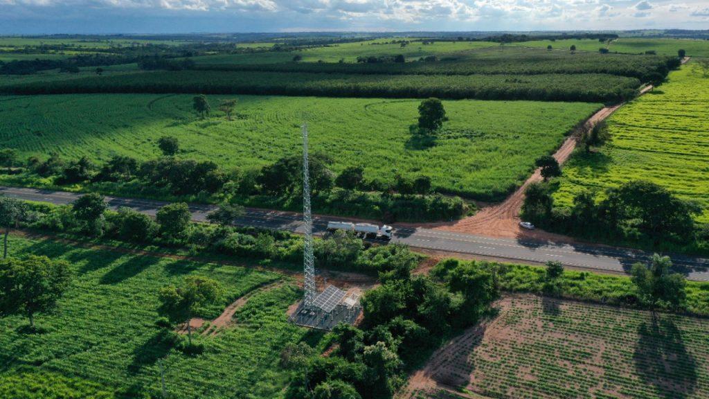 Antena solar da TIM em General Salgado